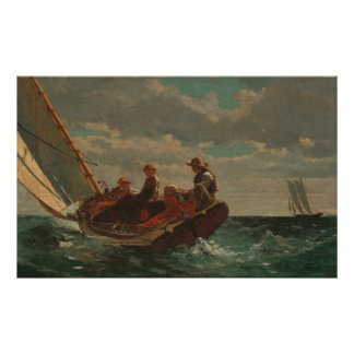 Winslow Homer Breezing Up Poster