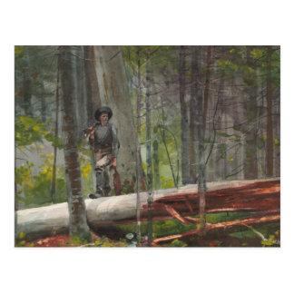 Winslow Homer - cazador en el Adirondacks Tarjetas Postales