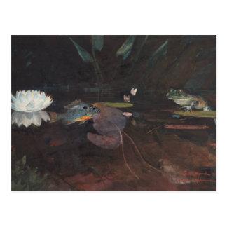 Winslow Homer - charca del visión Tarjeta Postal