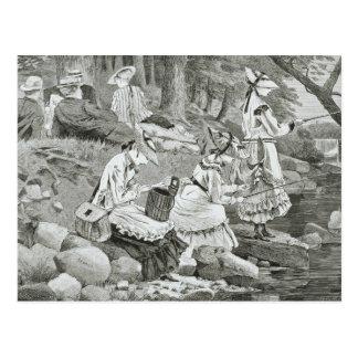 Winslow Homer - el fiesta de pesca Postal