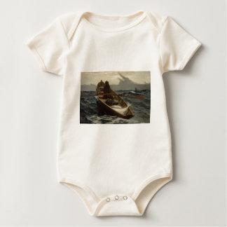 Winslow Homer Fog Warning Baby Bodysuit