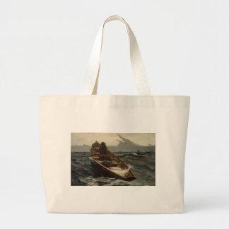 Winslow Homer Fog Warning Jumbo Tote Bag