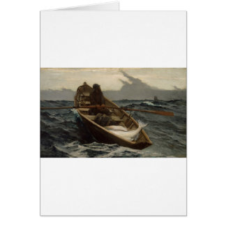 Winslow Homer Fog Warning Greeting Card