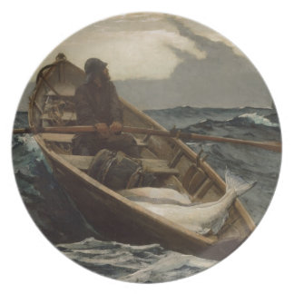 Winslow Homer Fog Warning Melamine Plate