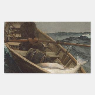 Winslow Homer Fog Warning Rectangular Sticker