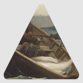 Winslow Homer Fog Warning Triangle Sticker