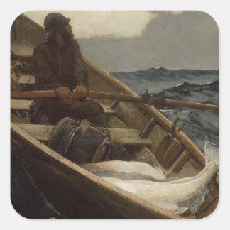 Winslow Homer Fog Warning Square Sticker