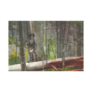 Winslow Homer - Hunter in the Adirondacks Canvas Print