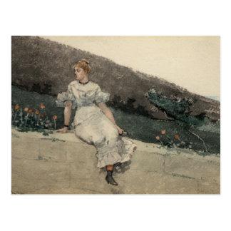 Winslow Homer - la pared del jardín Tarjetas Postales
