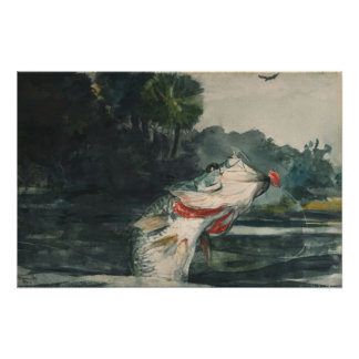 Winslow Homer Life Size Black Bass Posters