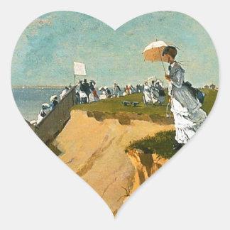 Winslow Homer - Long Branch, New Jersey Heart Sticker