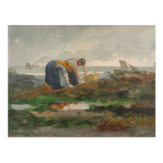 Winslow Homer - los recolectores del mejillón Tarjeta Postal