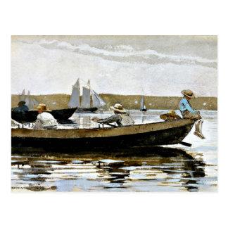 Winslow Homer - muchachos en un Dory Tarjeta Postal