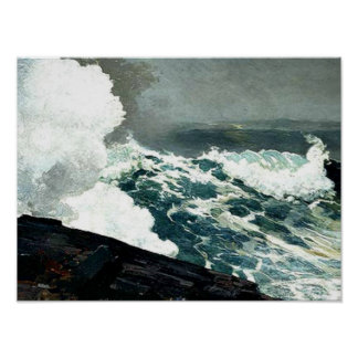 Winslow Homer - Noreaster Poster