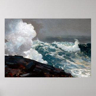 Winslow Homer Northeaster Poster
