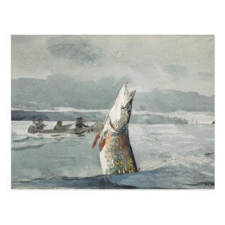Winslow Homer - Pike, lago St. John Tarjeta Postal