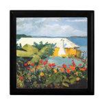 Winslow Homer: Pintura del jardín de flores y de l Cajas De Recuerdo