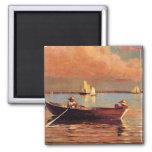 Winslow Homer: Puerto de Glouchester, 1873, ilustr Iman Para Frigorífico