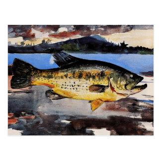 Winslow Homer que pinta, bajo Tarjeta Postal