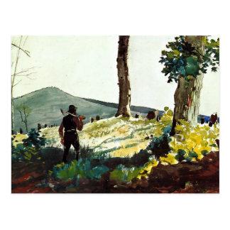 Winslow Homer que pinta, el pionero Tarjetas Postales