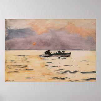 Winslow Homer que rema a casa Impresiones