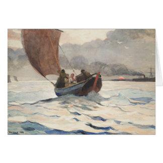 Winslow Homer - Returning Fishing Boats Card