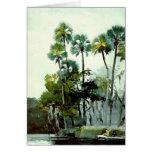 Winslow Homer - río de Homosassa Tarjeton