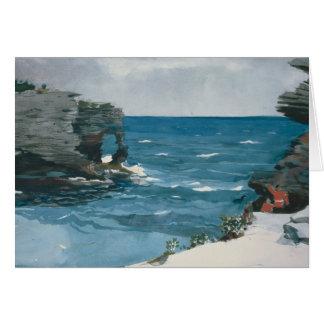 Winslow Homer - Rocky Shore, Bermuda Card