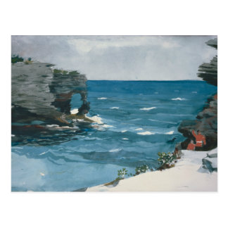 Winslow Homer - Rocky Shore, Bermuda Postcard