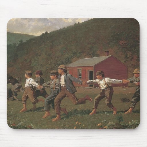 Winslow Homer Snap The Whip Mouse Pad