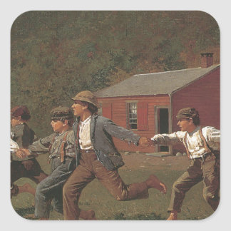 Winslow Homer Snap The Whip Square Sticker