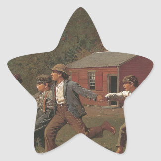 Winslow Homer Snap The Whip Star Sticker
