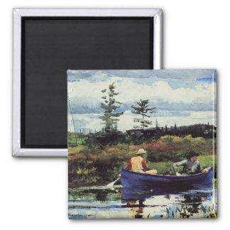 Winslow Homer: The Blue Boat, 1892, artwork 2 Inch Square Magnet