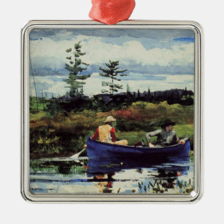 Winslow Homer: The Blue Boat, 1892, artwork Metal Ornament