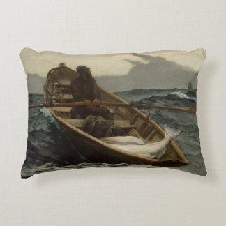 Winslow Homer - The Fog Warning Accent Pillow
