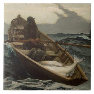 Winslow Homer - The Fog Warning Ceramic Tile