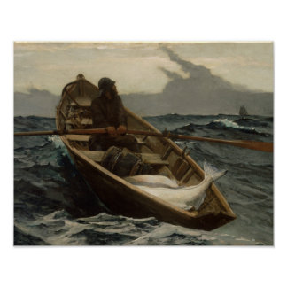 Winslow Homer - The Fog Warning Poster