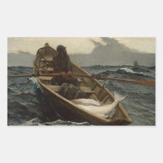 Winslow Homer - The Fog Warning Rectangular Sticker