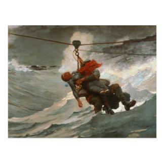 Winslow Homer - The Life Line Postcard