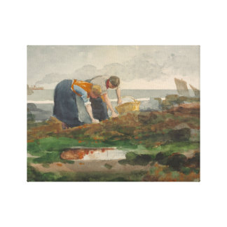 Winslow Homer - The Mussel Gatherers Canvas Print