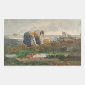 Winslow Homer - The Mussel Gatherers Rectangular Sticker