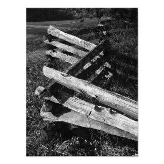 Winslow orchard split-rail fence photo print