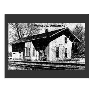 Winslow, postal del depósito de tren de AR