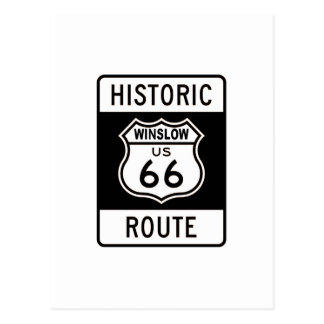 Winslow Route 66 Postcard