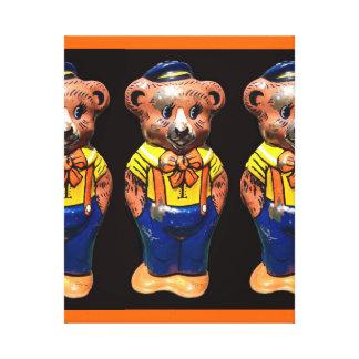Winsome Windup Teddy Bear Canvas Print