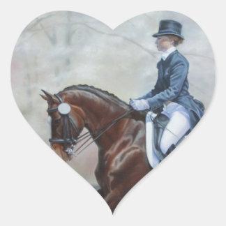 Winsor in Dressage Heart Sticker
