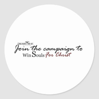 winsouls-black-with-crossroads-logo-tag classic round sticker