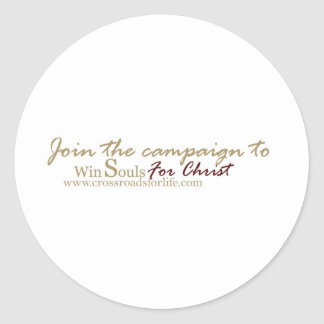 Winsouls-with-crossroads-website-tag Classic Round Sticker