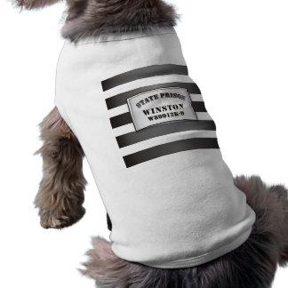 Winston - camiseta de la camiseta de la prisión de playera sin mangas para perro