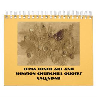 Winston Church quotes Calendar